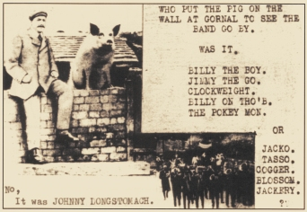 Gornal Pig on the wall postcard